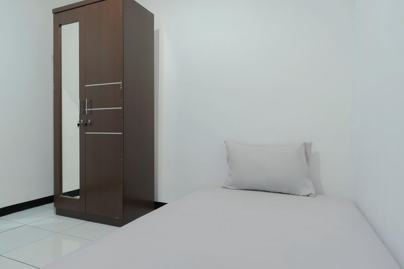 Kost Comfort Single Bed  Bedroom Kost Antapani Black And White House 1